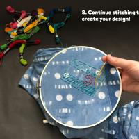 Step 8: Continue stitching to create your design!
