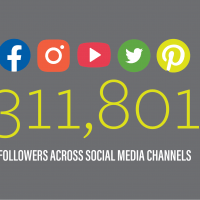 311,801 new followers on all social media