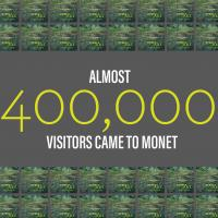 Almost 400,000 visitors to Monet