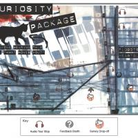 "The Flobots ""curiosity package"" map for visitors at the Denver Art Museum."