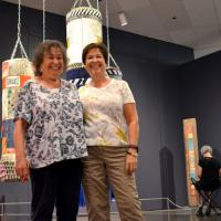 2 women in the Jeffrey Gibson: Like a Hammer exhibition