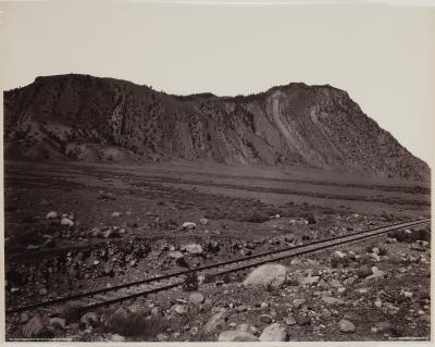 Photograph of Cinnabar Mountain, Devils Slide by Frank. J Haynes