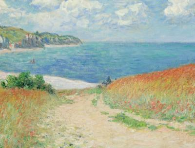 Monet's painting of a path through fields leading to the ocean