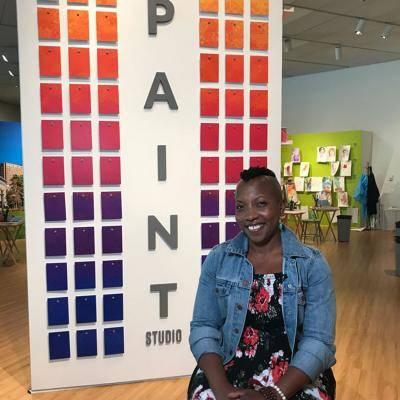 artist Quana Madison in the Paint Studio