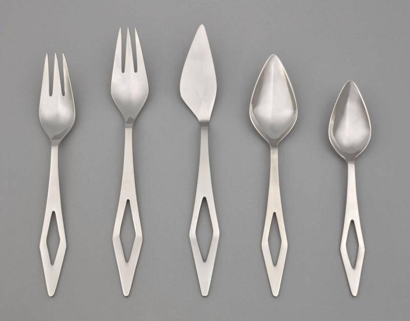 Five piece set of flatware