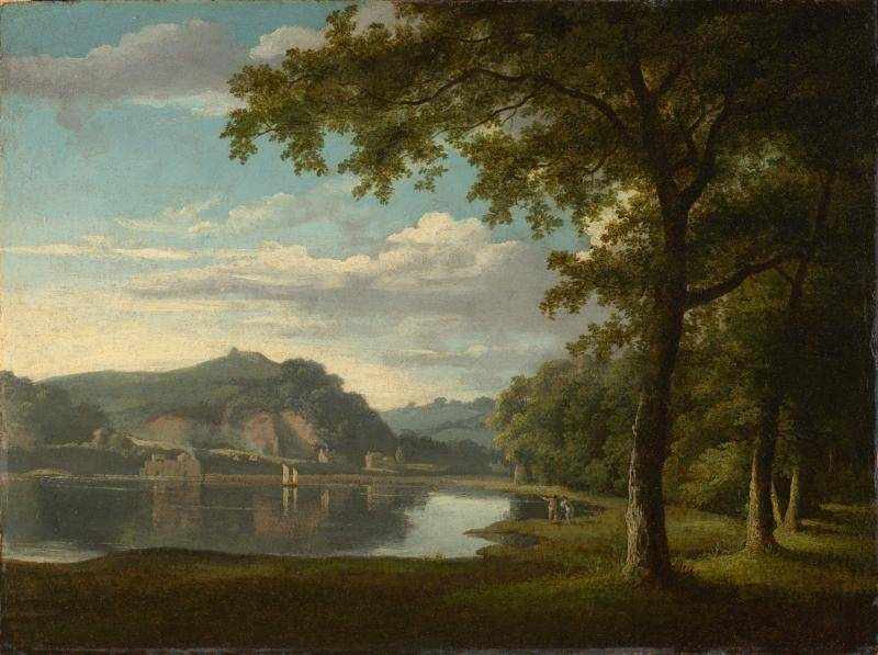 View on the River Wye painting