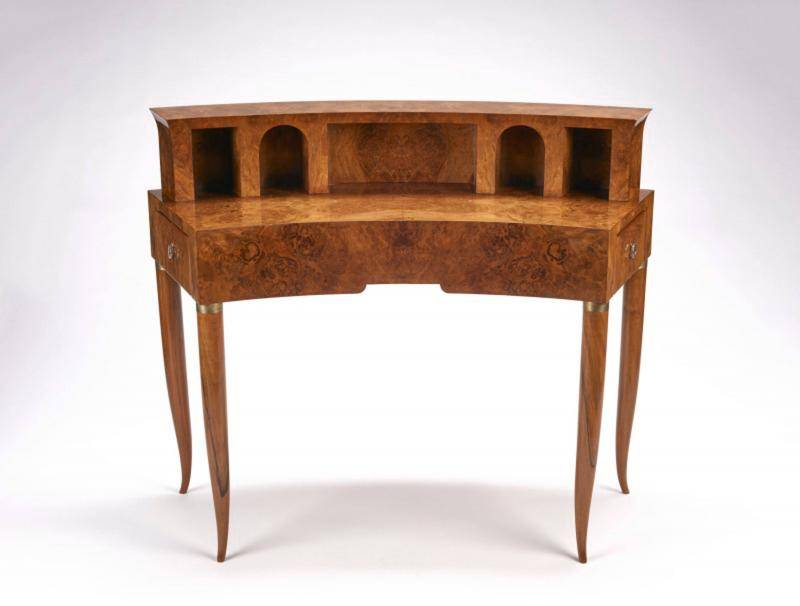 Walnut wood writing desk