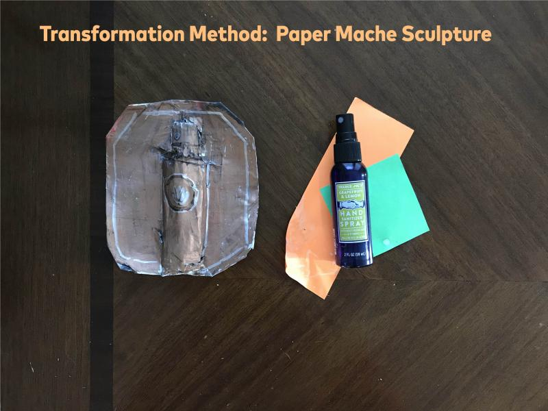 Image of materials needed to create paper mache sculpture