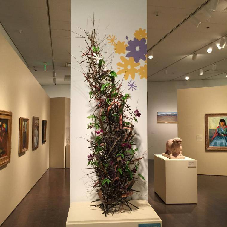 In-gallery floral arrangement by Arthur Williams