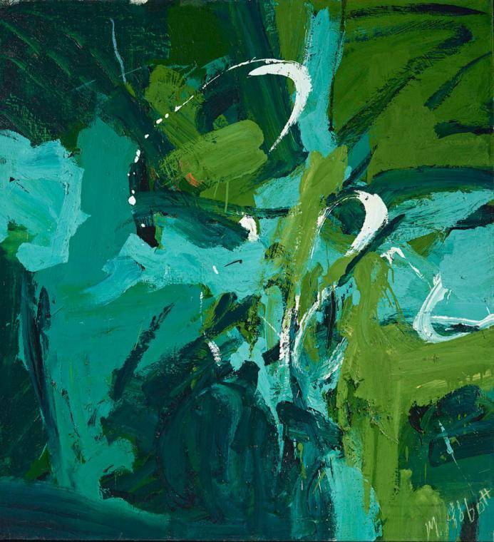Mary Abbott All Green, 1954 Oil on Linen Gift of Janis and Tom McCormick, 2013.250 © Mary Abbott