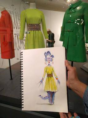 a drawing by Janet Woelfle in the Jim Howard exhibition
